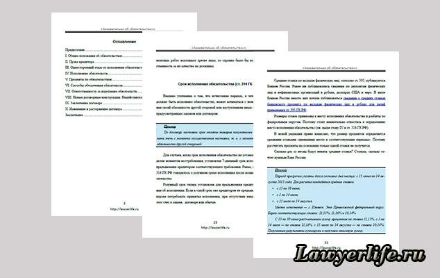 Примеры страниц книги