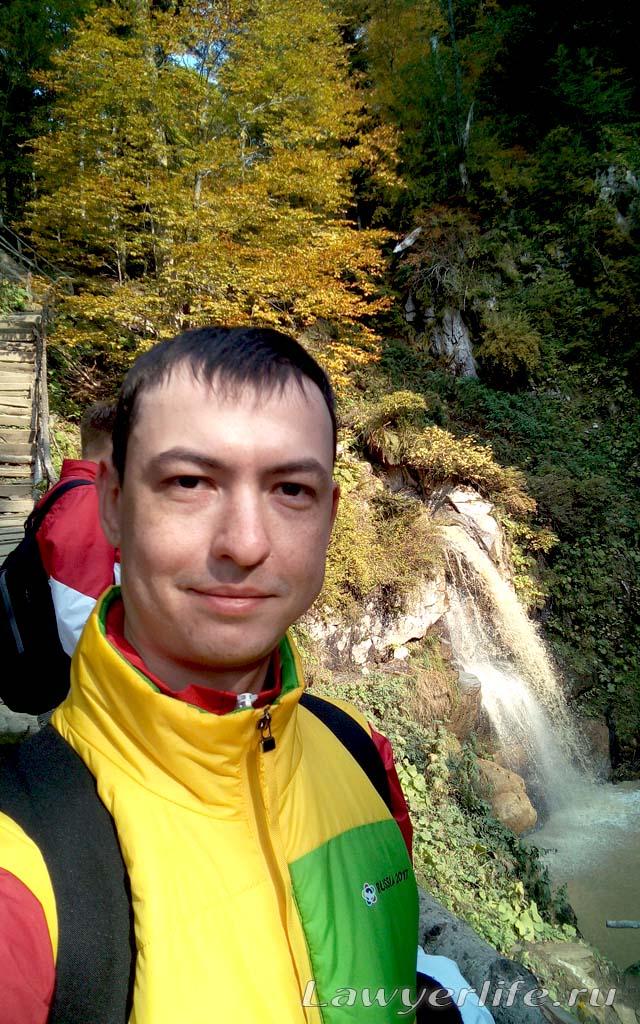 На одном из водопадов
