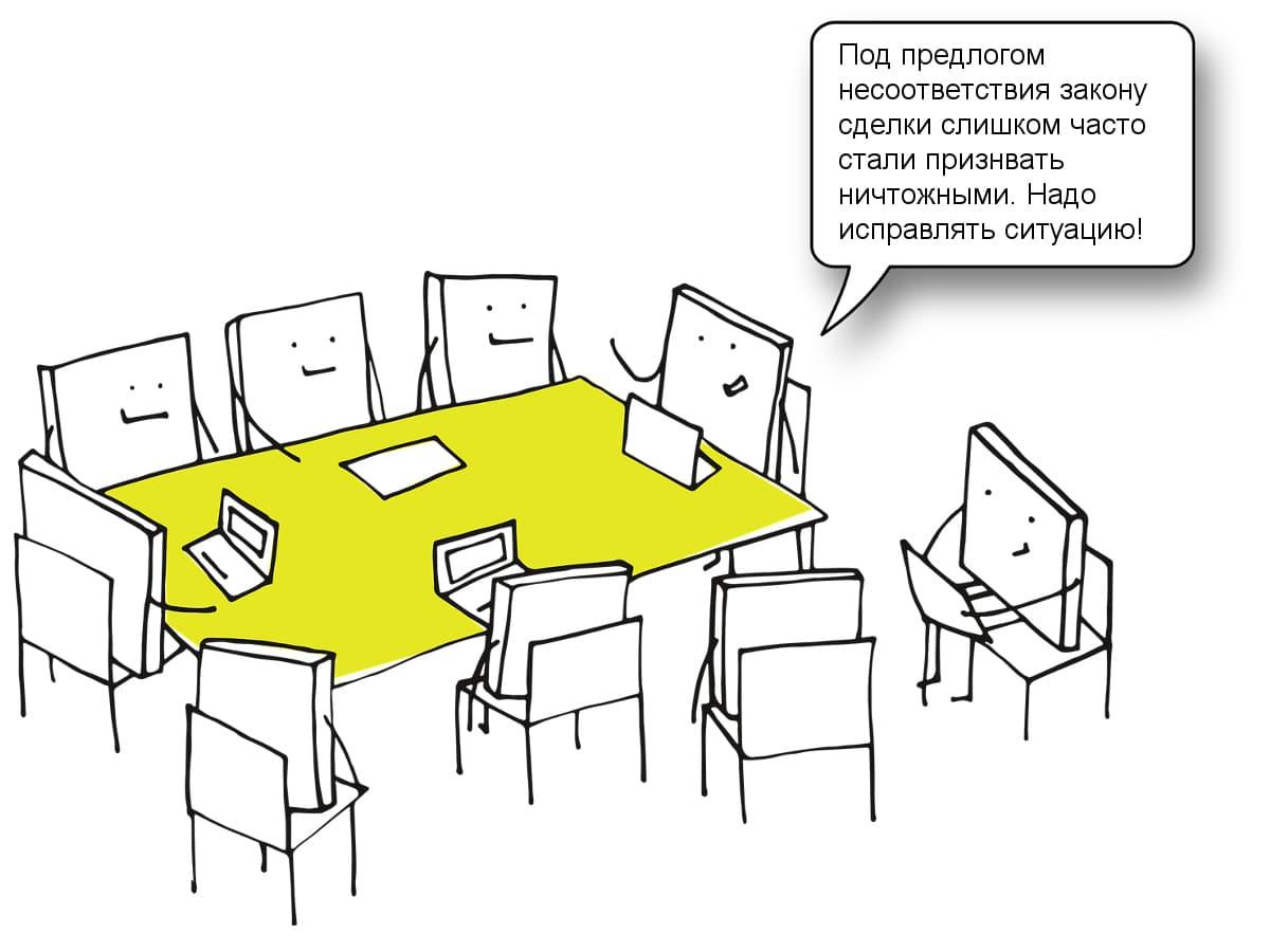 Частое применение ст. 168 ГК РФ